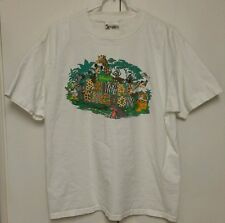 VINTAGE 1990s Mickey Mouse ANIMAL KINGDOM WALT DISNEY WORLD L shirt. MADE IN USA