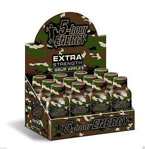 5 Hour Energy Extra Strength Sour Apple 12 ct Shots 1.93 oz Sugar Free