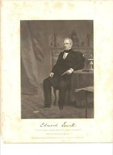 Edward Everett - Autograph Steel Engraving Governor Senator MA Sec of State UK