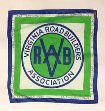 Vintage Virginia Road Builders Association Scarf (St Thomas 1969, Frankie Welch)