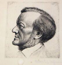 RARE Werner Ernst A. HOFFMANN (1881-1962) Signé ORIGINAL portrait WAGNER