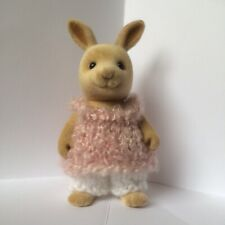 Sylvanian families clothes ~ knitted Dusky Pink Boucle Top & White Pants~ Adult
