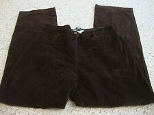 Women's BRIGGS NEW YORK brown stretch corduroy pants, 12