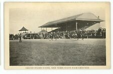 Grandstand Horse Racing Racetrack State Fair SYRACUSE NY Vintage Postcard