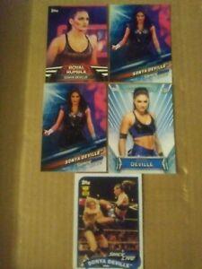 SONYA DEVILLE  WRESTLING 5 CARD LOT WWE RAW SMACKDOWN DIVA MMA