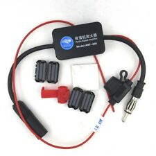 Automobile Car AM FM Radio Stereo Aerial Antenna Signal Amplifier Booster Inline