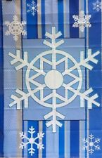 """Winter Snowflake Embroidered House Flag by Premier Designs #22526,  28"""" x 40"""""""