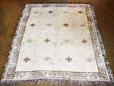 Fleur de Bienvenue ~ Fleur de Lis Tapestry Afghan Throw