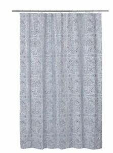 Ikea Angslocka Shower Curtain 180 x 180 cm, Blue White Patterned