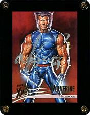 FLEER ULTRA X-MEN 1996 WOLVERINE TRADING CARD 46 SIGNED BY ARTIST MARK TEXEIRA