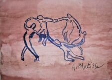 Drawing watercolor signed H. MATISSE