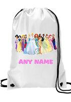 GIRLS Personalised  princess Gym BAG for Swim PE Dance School Great