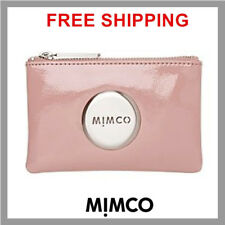 Authentic Mimco LOTUS PINK Lovely Patent Leather Small MIM Pouch Wallet BNWT DF