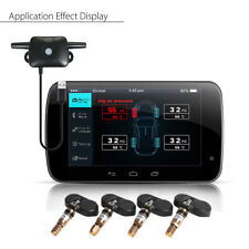 TPMS Car Tire Tyre Pressure Monitoring System 4x Internal Sensor For Android GPS