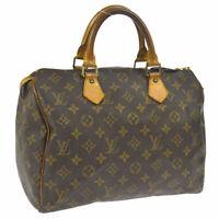 LOUIS VUITTON SPEEDY 30 HAND BAG MONOGRAM CANVAS LEATHER M41526 A43968e