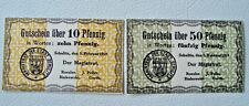 SCHULITZ (Posen) Solec Kujawski Stadt Notgeld 10+50 Pfennig 1919 selten (2834)
