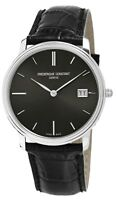 Frederique Constant Slimline Men's Quartz Black 37mm Watch FC-220NG4S6