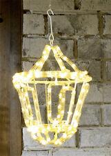 outdoor warm white led rope light hanging lantern christmas decoration garden