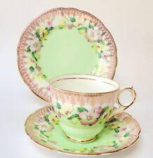 VINTAGE Tè Tazza Piattino SOTTOCOPPA TRIO stoviglie Inglese fine porcellana Royal Stafford