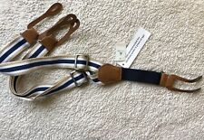 Baby Gap Baby Boy Suspenders - One Size - Navy Blue / White / Khaki Tan NWT!