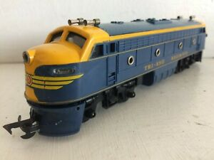 TRIANG R250 EARLY BLUE YELLOW DIESEL DUMMY LOCO 1960 transcontinental 100% COMPL