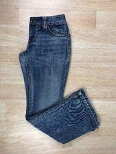 EUC INC Denim Womens Size 2 Petite Curvy Fit Boot Leg Denim Blue Back Flaps Jean