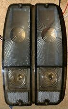 1967-72 FORD F100 F250 & 1967-1977 BRONCO TAIL LIGHT LENS Pair ALL SMOKE SET