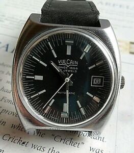 Vintage Men's 1970's Vulcain 17 Jewel Swiss Automatic Mech. Watch Runs 4 REPAIR