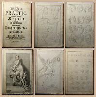 Sammelband Preißler Theorie Practic Reguln 1765-1771 Malerei Zeichnen Lehre xz