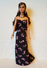 Poppy Parker Doll Clothes Flowers GOWN & JEWELRY Handmade Fashion NO DOLL d4e