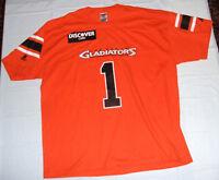 Las Vegas Gladiators #1 Jersey Style T-Shirt XL Cleveland Defunct Arena Football