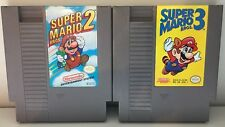 Super Mario Bros 2 + 3 Nintendo NES Game Cartridge Bundle Original OEM