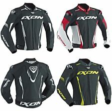 IXON VORTEX 2 Leather Black/Red/Yellow/White Sport Motorbike Jacket CE Certified