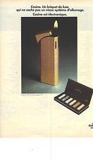 PUBLICITE 1973   CONSUL le briquet de luxe CASINO