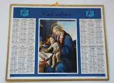 Calendrier almanach PTT 1968 BOTTICELLI Vierge Carte Pyrénées Orientales Andorre