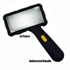 2x LED Rectangular Magnifier