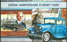 GUINEA 2013 150TH BIRTH ANNIVERSARY HENRY FORD CAR MAKER SOUVENIR SHEET