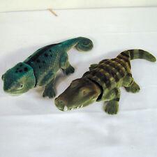 2 BOBBING HEAD CROCODILE & LIZARD gator moving heads bobble toys novelty nodders