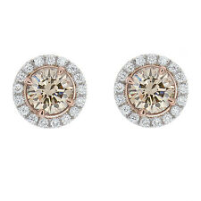 earrings white stud colored diamond crown designer ear