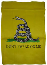 "28x40 Gadsden (White) Dont Tread On Me Double Sided Sleeved Garden Flag 28""x40"""