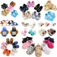 Baby Moccasin Tassel Bowknot Soft Sole Leather Shoes Infant Boy Girl Shoes 0-18M