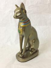 Egyptian Cat Bastet Figurine Statue, resin statue bronze colour