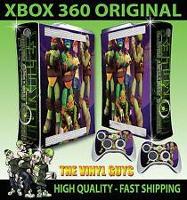 XBOX 360 NICK TOON TEENAGE MUTANT NINJA TURTLES STICKER SKIN COVER & 2 PAD SKINS