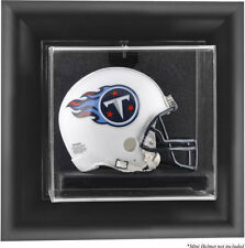 Football Mini Helmet Display Case Wall Mounted - Choice Of Wood Or Black Frame