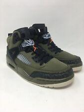 Jordan 4 Spizike Men's Size 9.5 M US Olive Green/ Black/ Orange