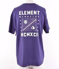 2016 NWOT MENS ELEMENT BACKPRINT LOGO T-SHIRT $25 M eclipse navy 100% cotton