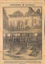 Ruines Ferme de Talus-Saint-Prix Bataille de la Marne Tombes à Muizon WWI 1914