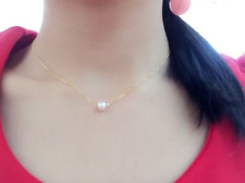 9-10mm freshwater pearl necklace  dainty necklace bridesmaid pearl jewelry