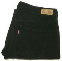 LEVI'S 505 BNWOT WOMENS SIZE 10 W30 X L30 BLACK STRAIGHT LEG JEANS FREE POST