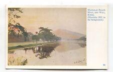 Burma - Mandalay Palace, Moat and Wall - old artistic postcard